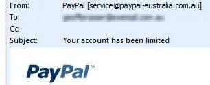 Ejemplo de phishing: PayPal
